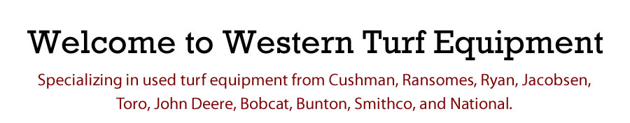 Welcome To Western Turf Equipment